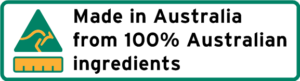 Made in Australia from 100% Australian Ingredients