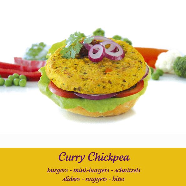 Vegie Magic Curry Chickpea Burger