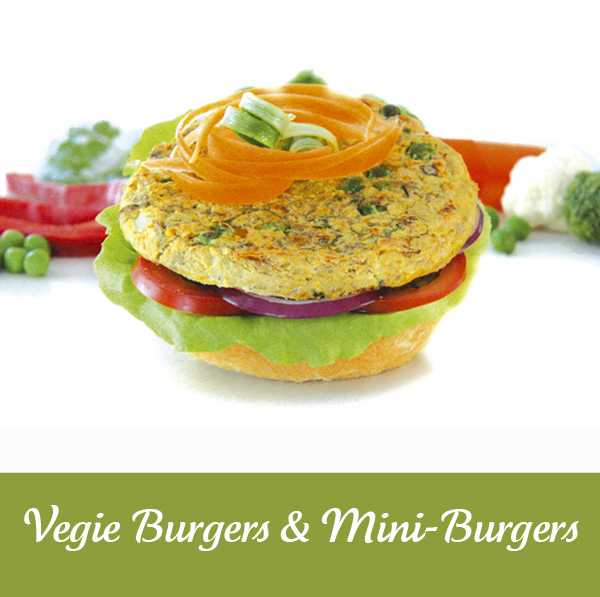 Vegie Magic Vegie Burgers and Mini Burgers