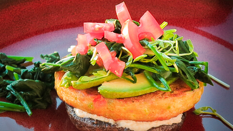 Vegie Magic Gluten Free Vegie Burger - Brekky Stack